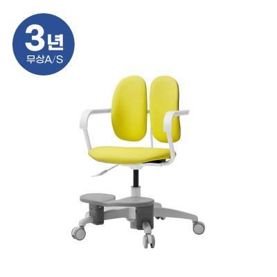 듀오백 밀키 228F 아동의자 회전중심봉+발받침