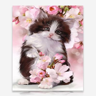 꽃과 아기고양이 DIY 보석십자수 십자수 비즈세트