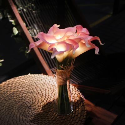 핑크 카라 부케 LED 무드등