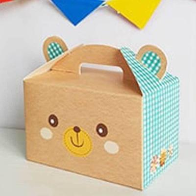 귀여운 손잡이 곰돌이 선물 상자 박스 간식 상자