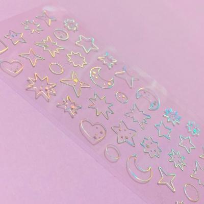 투명금테 투명도100% Deco-Twinkle 오로라 스티커