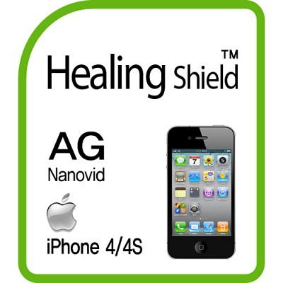 [힐링쉴드] 아이폰4S/4 AG Nanovid 지문방지 액정보호필름 2매+후면보호필름 1매(HS140300)