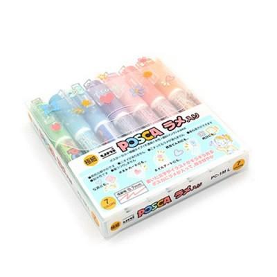 유니볼 포스카 컬러 메탈릭마커-0.7mm-7색 세트