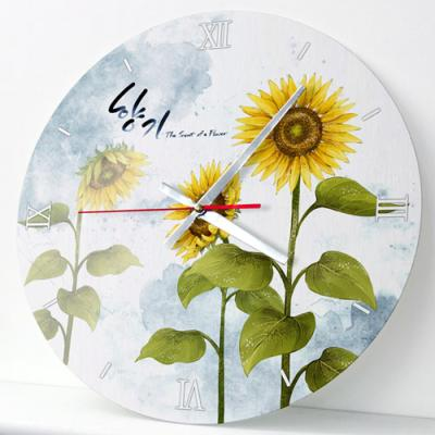 ik469-해바라기의향기2_인테리어벽시계