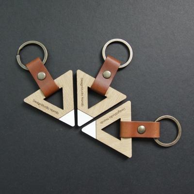 [이니셜 각인] 우드 키링 - Geometry Ver.
