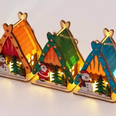크리스마스 세모집 무드등 만들기