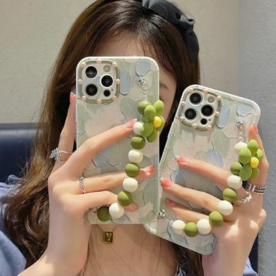 아이폰12 11pro max xs 8 꽃 비즈 스트랩 감성 케이스