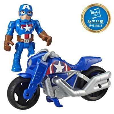 마블 슈퍼히어로 피규어 모터사이클세트 캡틴아메리카