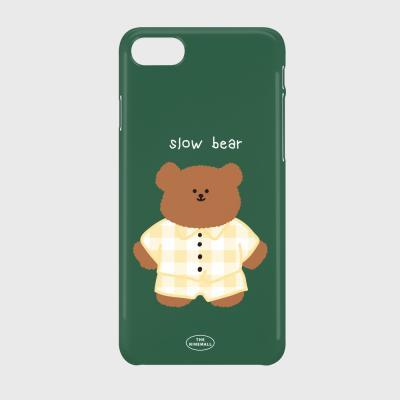 pajamas khaki slow bear 하드케이스