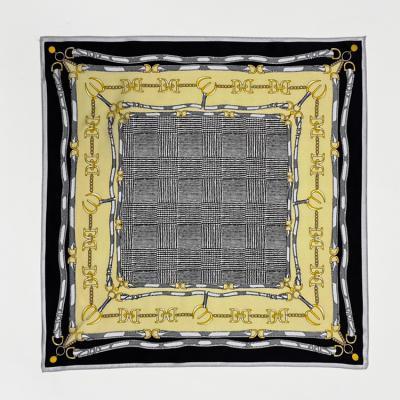 Silk Gold Belt Square Petit Scarf