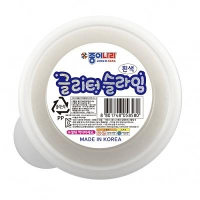 [종이나라] 글리터슬라임40g 흰색 [개/1] 382348