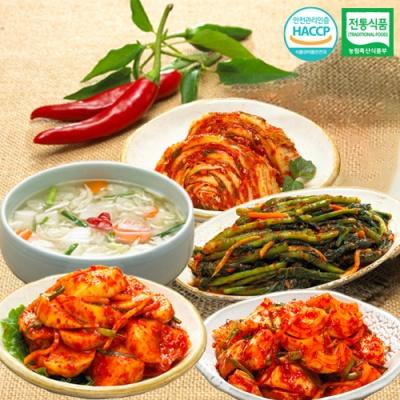 나박물김치+석박지김치+갓김치+양파김치+맛김치x각1kg