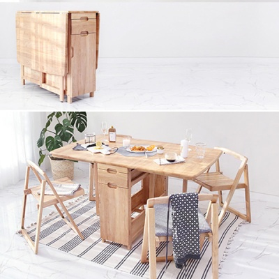 [스크래치] 원목 확장형 테이블 식탁 SET ( 시즌2)