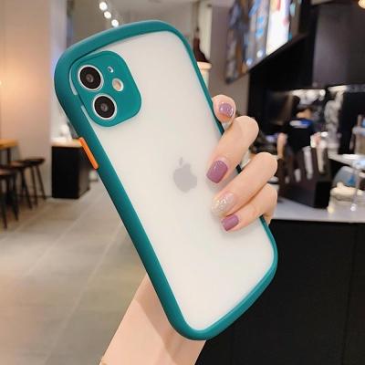 아이폰11 pro max 파스텔 컬러 라인 범퍼 투명 케이스