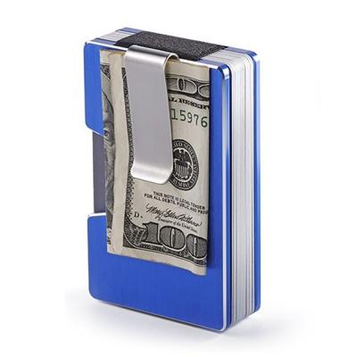 RFID차단 머니클립 카드지갑(블루)