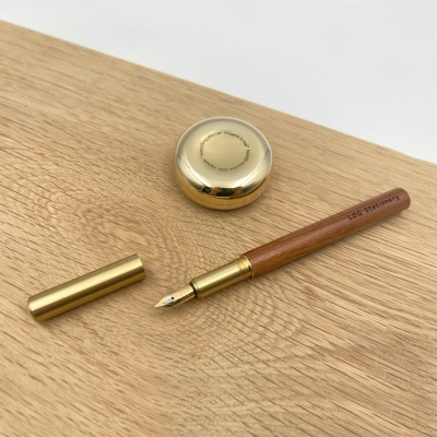 LOG FP-402 (Brass+Natural wood) 황동 원목 만년필