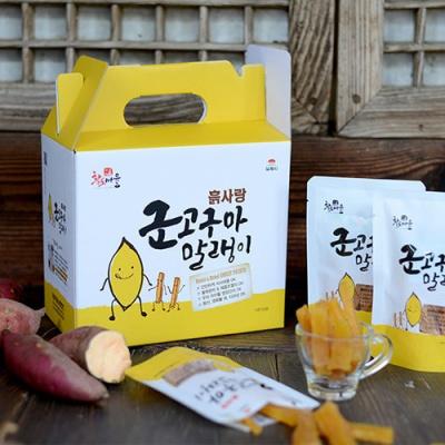 [황토마을] 쫀득쫀득 달콤한 군고구마 말랭이 500g