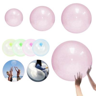 대형 40CM 젤리 버블 볼 투명 풍선 공 물 놀이 장난감