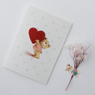 하트 곰, 내마음이 곰카드 / 020-SG-0074