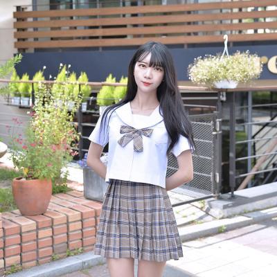 티라미수 마카롱 체크 세라복 세트 (반팔)