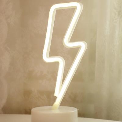 LED 네온 전구 USB 조명등 (번개)