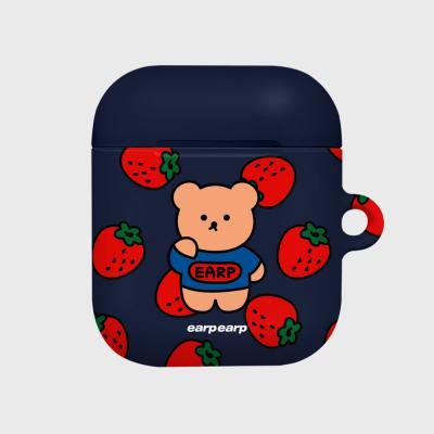 strawberry bear-navy(Hard air pods)