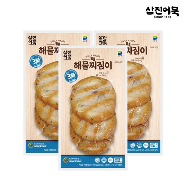 [삼진어묵] 해물찌짐이 1봉 190g (3개입) x 3개