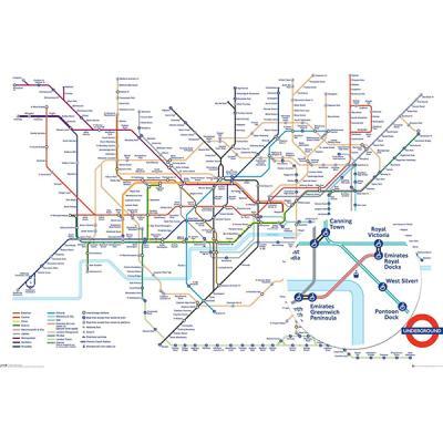 GN0869 런던 지하철 노선도(Underground Map) 포스터