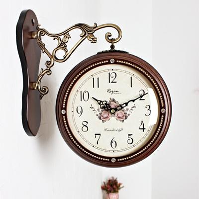 큐빅 양면시계 브라운 (kcp020)