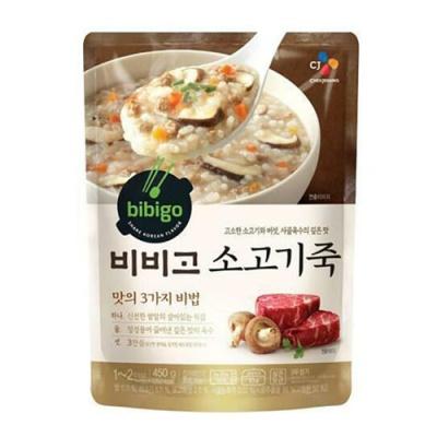 [CJ제일제당] 비비고 소고기죽 450gx3팩