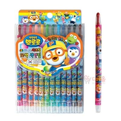 뽀로로 샤프식 색연필 12색 캐릭터 어린이 색연필세트
