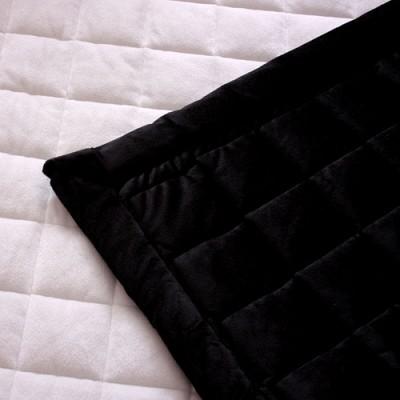 극세사 양면 패드 - 블랙