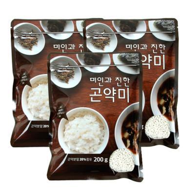 [기획]미인과친한 곤약미 곤약쌀 200g 3봉