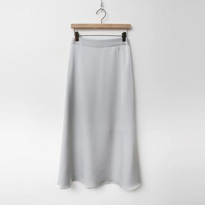 Satin Flare Long Skirt