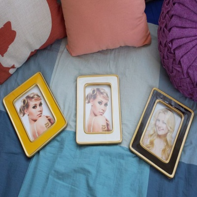 사진액자 도자기 컬러 탁상액자 3색 결혼 테이블액자