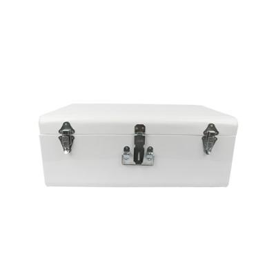 철제 사각 트렁크-화이트