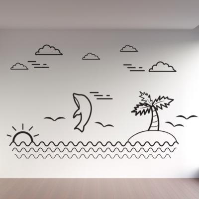 cg725-돌고래와바다_그래픽스티커