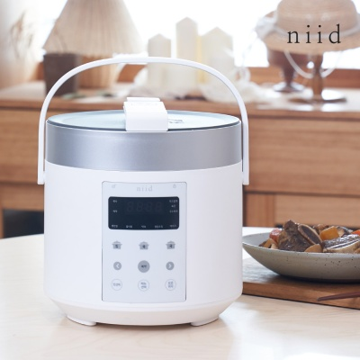 니드 3인용 미니 소형 전기 압력 밥솥 NIID5 화이트
