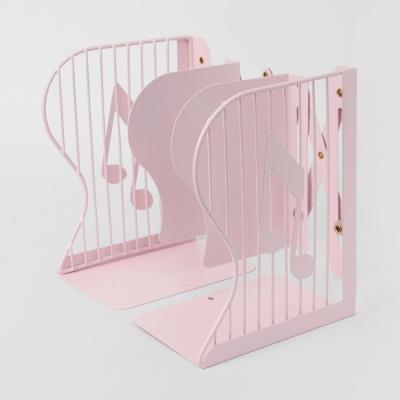 음표 접이식 책꽂이(핑크) /자바라 철제책꽂이
