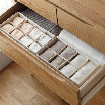 8칸- 칸막이 접이식 속옷 양말 수납 정리함 상자 박스