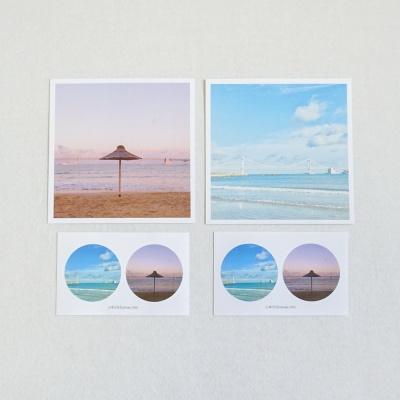 메리필름 부산 광안대교 바다 엽서, 스티커 set