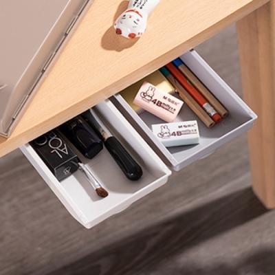 책상 히든 서랍 붙이는 부착식 슬라이딩 틈새 정리함