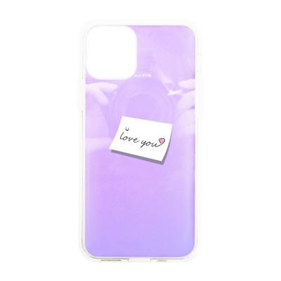 나인어클락 하프미러 한쌍 커플 케이스 - 레터 핑크
