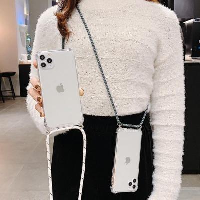 갤럭시S20울트라 핸드폰목걸이 줄 스트랩 투명 케이스