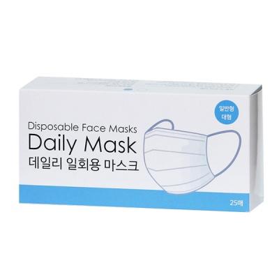 [1+1] 데일리 원데이 3중필터  일회용 마스크 25매
