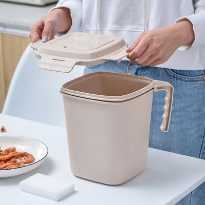 이중구조 밀폐음식물 쓰레기통 3컬러