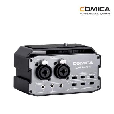 코미카 2채널 오디오 믹서 XLR,3.5mm,6.35mm CVM-AX3