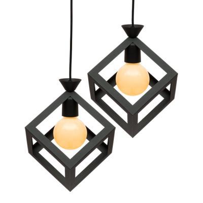 아가타 사각 펜던트 2등 (LED겸용/식탁등/카페조명/포인트조명)