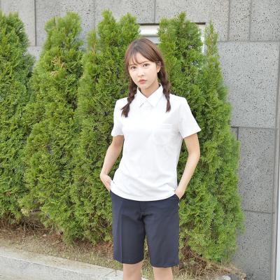 [빅사이즈] 스판 네이비 교복 반바지(여자) ~6XL