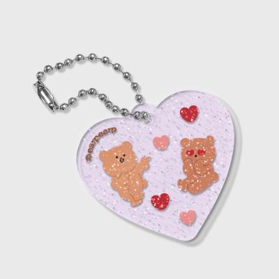 Heart angel bear(글리터키링-퍼플)